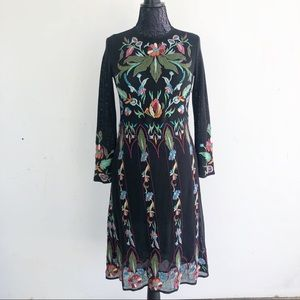ZARA KNIT LIMITED EDITION EMBROIDERED DRESS S